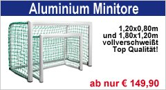 Fu&szlig;ball-Minitore aus Aluminium
