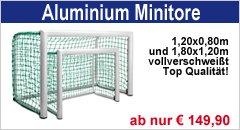 Fußball-Minitore aus Aluminium