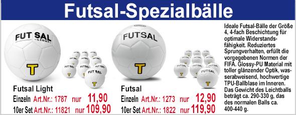 Futsal-Spezialbälle