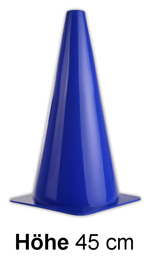 pylonen in blau h he 45 cm fussball trainingshilfen. Black Bedroom Furniture Sets. Home Design Ideas